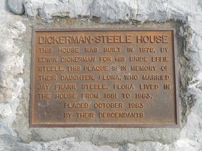 Dickerman-Steele House Marker image. Click for full size.