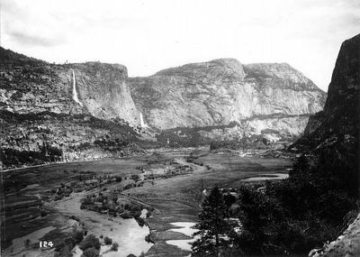 Hetch Hetchy Valley before the Tuolumne River was dammed. image. Click for full size.