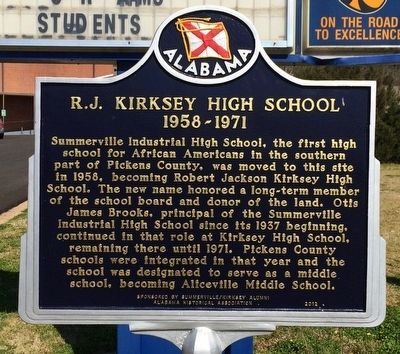 R. J. Kirksey High School Marker image. Click for full size.