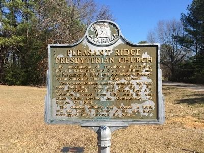 Pleasant Ridge Presbyterian Church Marker image. Click for full size.