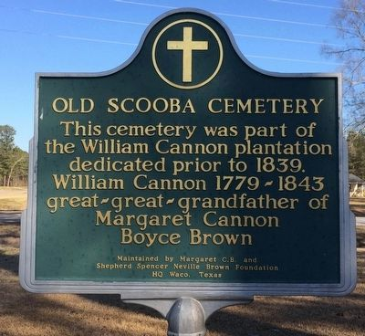Old Scooba Cemetery Marker image. Click for full size.