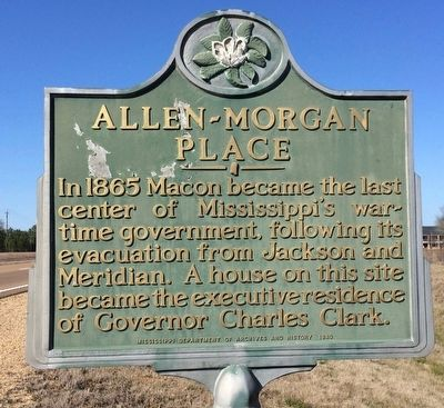 Allen-Morgan Place Marker image. Click for full size.