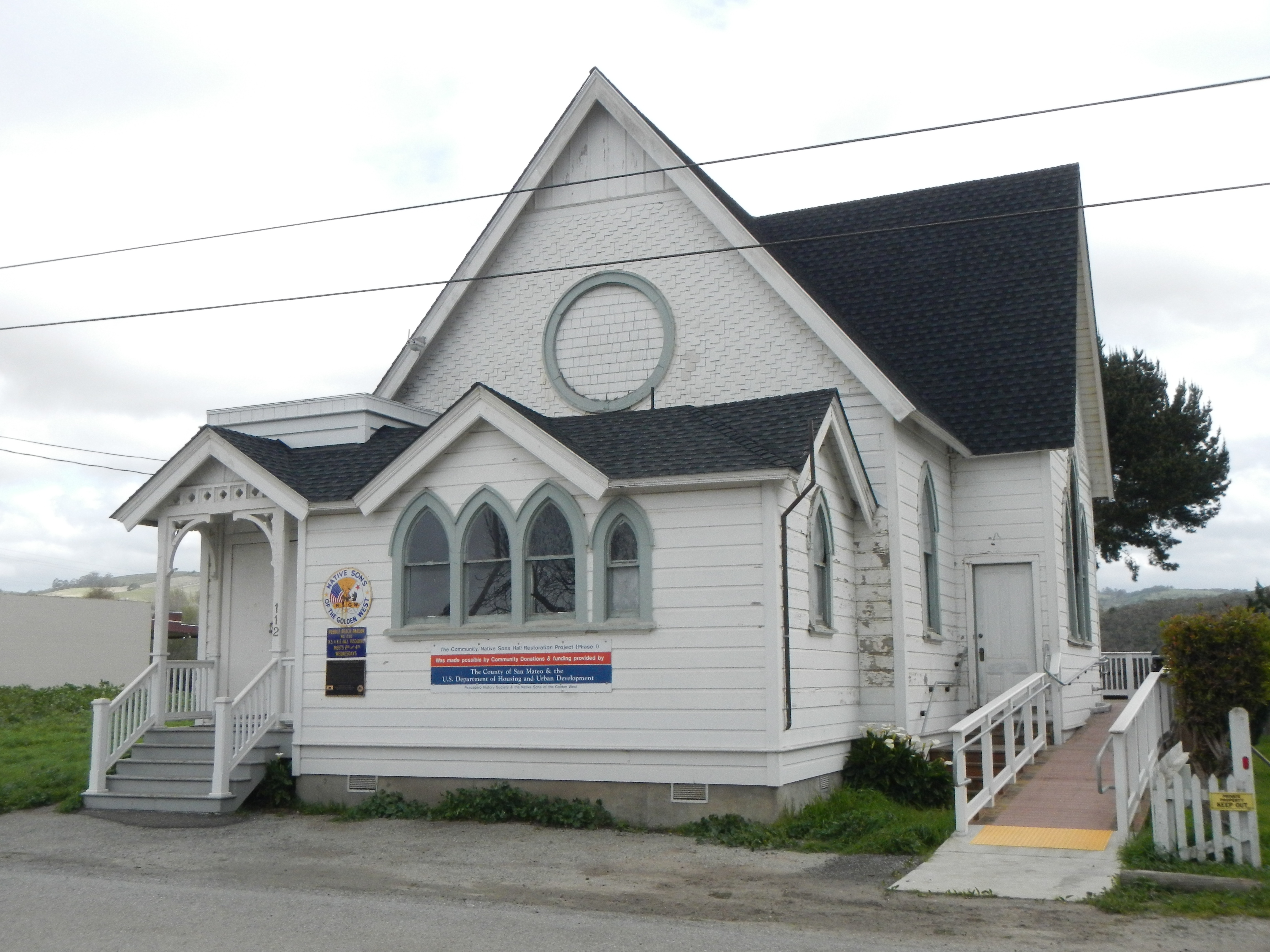 Methodist Episcopal Church of Pescadero and Marker