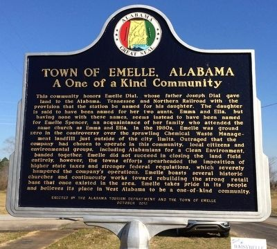 Town of Emelle, Alabama Marker image. Click for full size.
