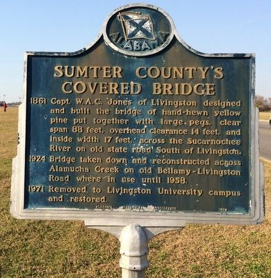 Sumter County's Covered Bridge Marker image. Click for full size.