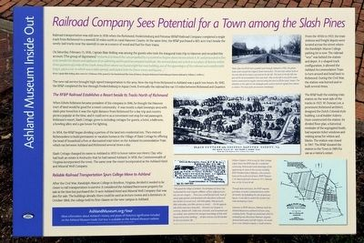 Railroad Company Sees Potential For A Town Among The Slash Pines Marker image. Click for full size.
