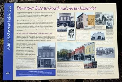 Downtown Business Growth Fuels Ashland Expansion Marker image. Click for full size.