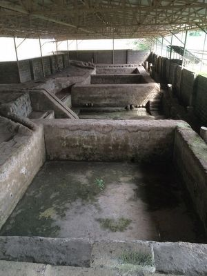 Colonial indigo processing vats at San Andrés image. Click for full size.