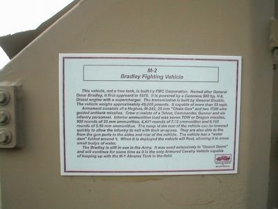 M2 Bradley Fighting Vehicle Marker image. Click for full size.