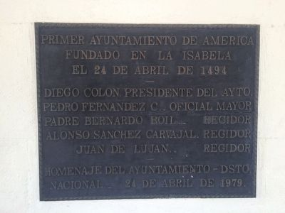 First City Hall in the Americas Marker image. Click for full size.