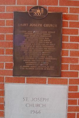 Saint Joseph Church Marker image. Click for full size.