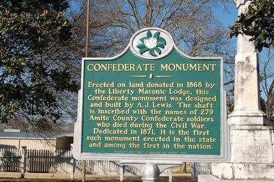 Confederate Monument Marker image. Click for full size.