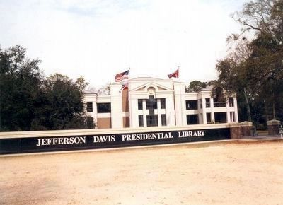 Jefferson Davis Presidential Library before Hurricane Katrina image. Click for full size.