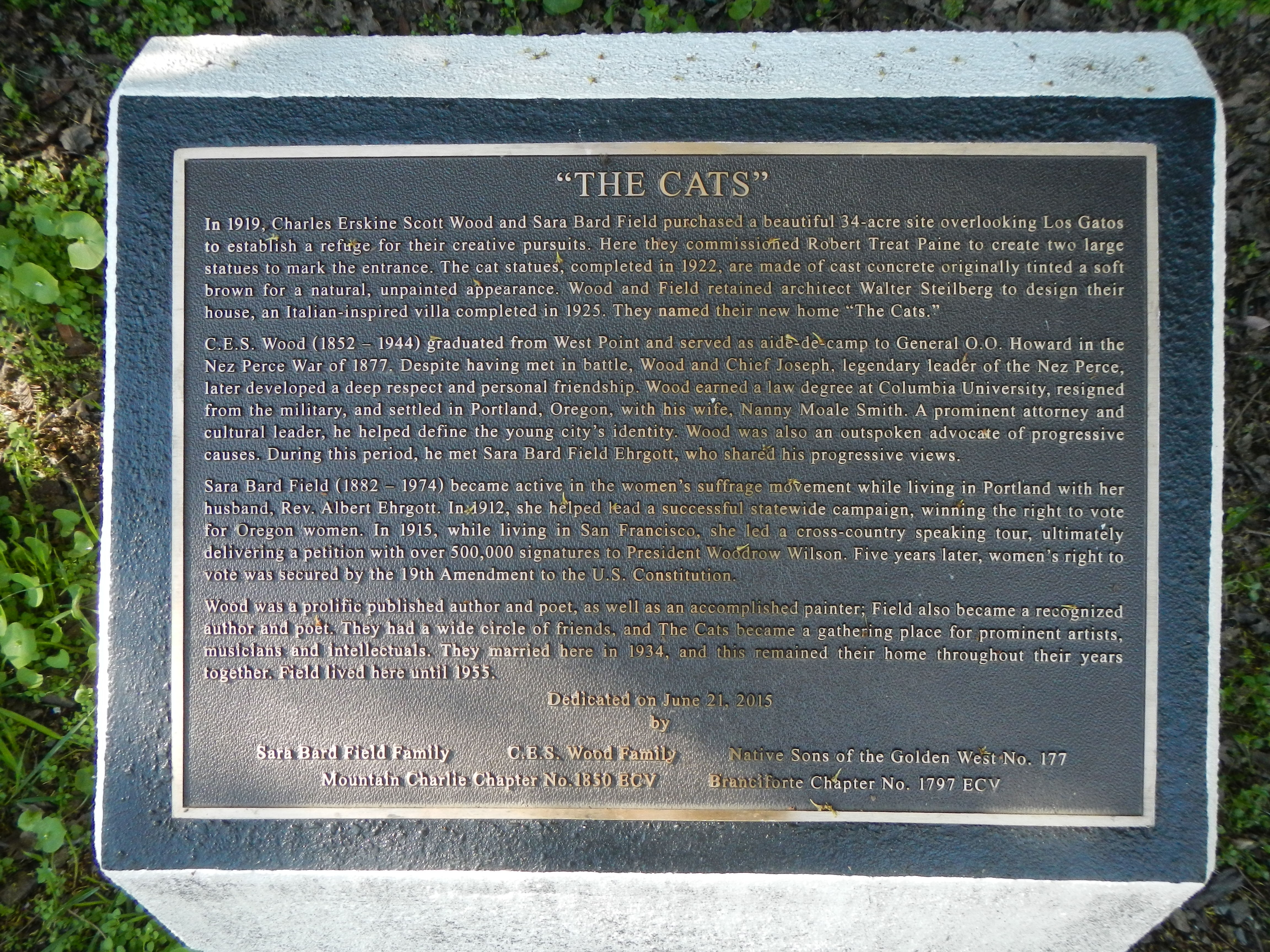 """The Cats"" Marker"