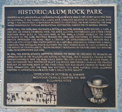Historic Alum Rock Park Marker image. Click for full size.