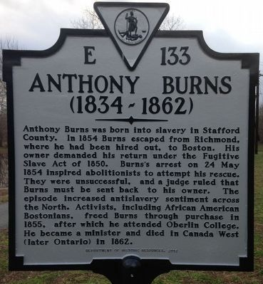 Anthony Burns Marker image. Click for full size.