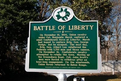 Battle Of Liberty Marker image. Click for full size.