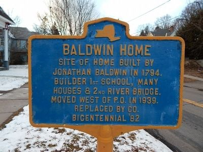 Baldwin Home Marker image. Click for full size.