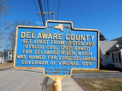 Delaware County Marker image. Click for full size.