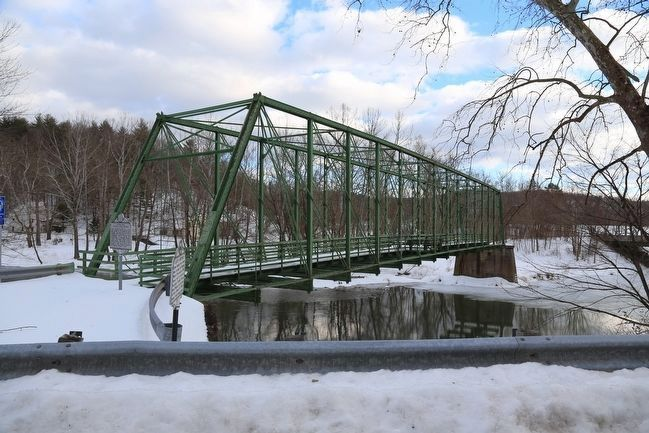 Capon Lake Whipple Truss Bridge and Capon Springs Markers image. Click for full size.