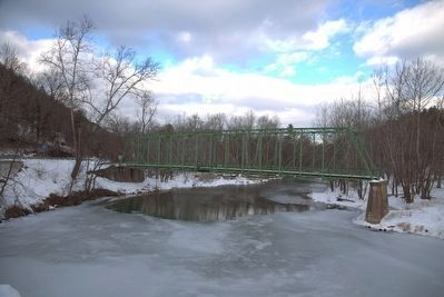 Capon Lake Whipple Truss Bridge image. Click for full size.