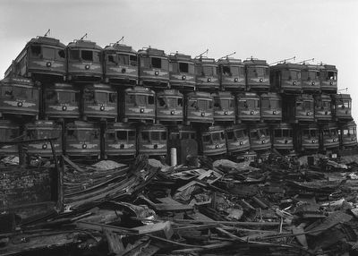 Junked Streetcars image. Click for full size.