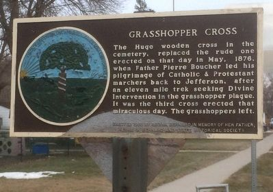 Grasshopper Cross Marker image. Click for full size.