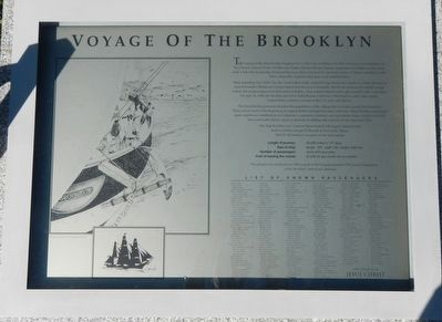 Voyage of the Brooklyn Marker image. Click for full size.