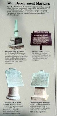 Monuments and Markers Marker<br>War Department Markers image. Click for full size.