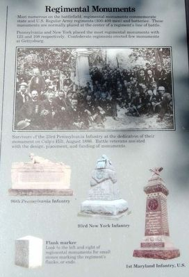 Monuments and Markers Marker<br>Regimental Monuments image. Click for full size.