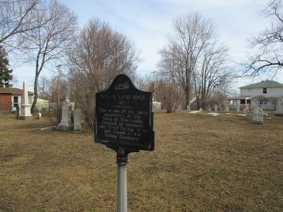 Marker & Failing Cemetery image. Click for full size.