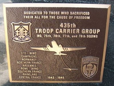 435th Troop Carrier Group Marker image. Click for full size.