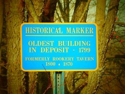Oldest Building In Deposit Marker image. Click for full size.