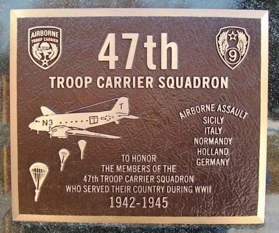47th Troop Carrier Squadron Marker image. Click for full size.