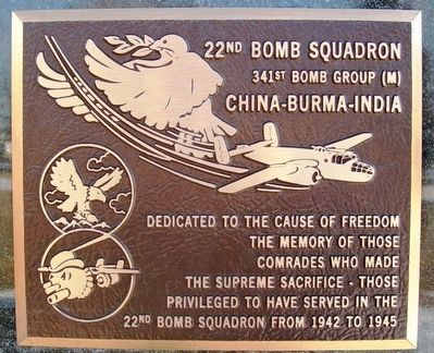 22nd Bomb Squadron Marker image. Click for full size.