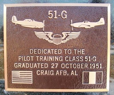 Pilot Training Class 51-G Marker image. Click for full size.