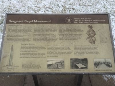 Sergeant Floyd Monument National Park Service Marker image. Click for full size.