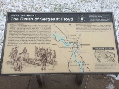 The Death of Sergeant Floyd Marker image. Click for full size.