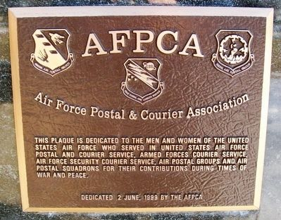 Air Force Postal & Courier Association Marker image. Click for full size.