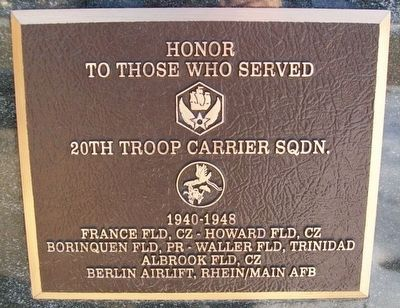 20th Troop Carrier Squadron Marker image. Click for full size.