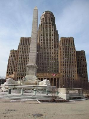 Buffalo City Hall and McKinley Monument image. Click for full size.