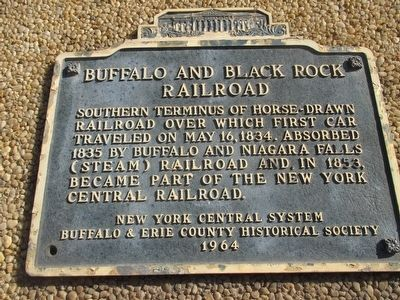Buffalo and Black Rock Railroad Marker image. Click for full size.