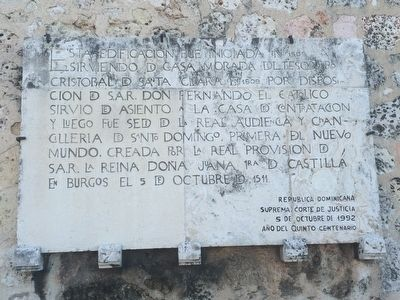 The Residence of Treasurer Cristóbal de Santa Clara Marker image. Click for full size.