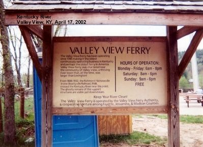 Valley View Ferry Marker image. Click for full size.