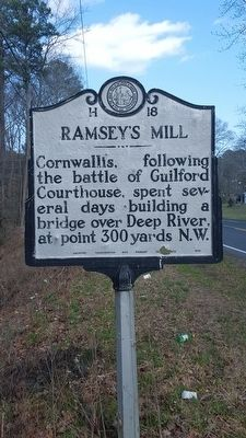 Ramsey's Mill Marker image. Click for full size.