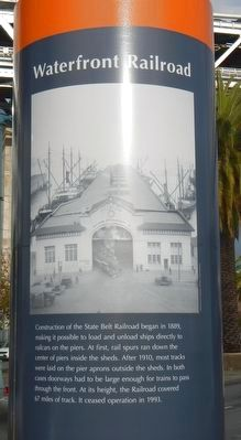 Waterfront Railroad Marker image. Click for full size.