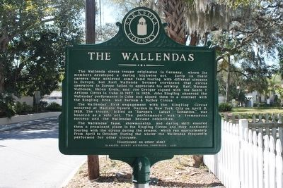 The Wallendas Marker-Side 1 image. Click for full size.