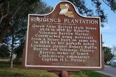 Residence Plantation Marker image. Click for full size.