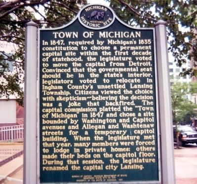 Town of Michigan (front side) Marker image. Click for full size.