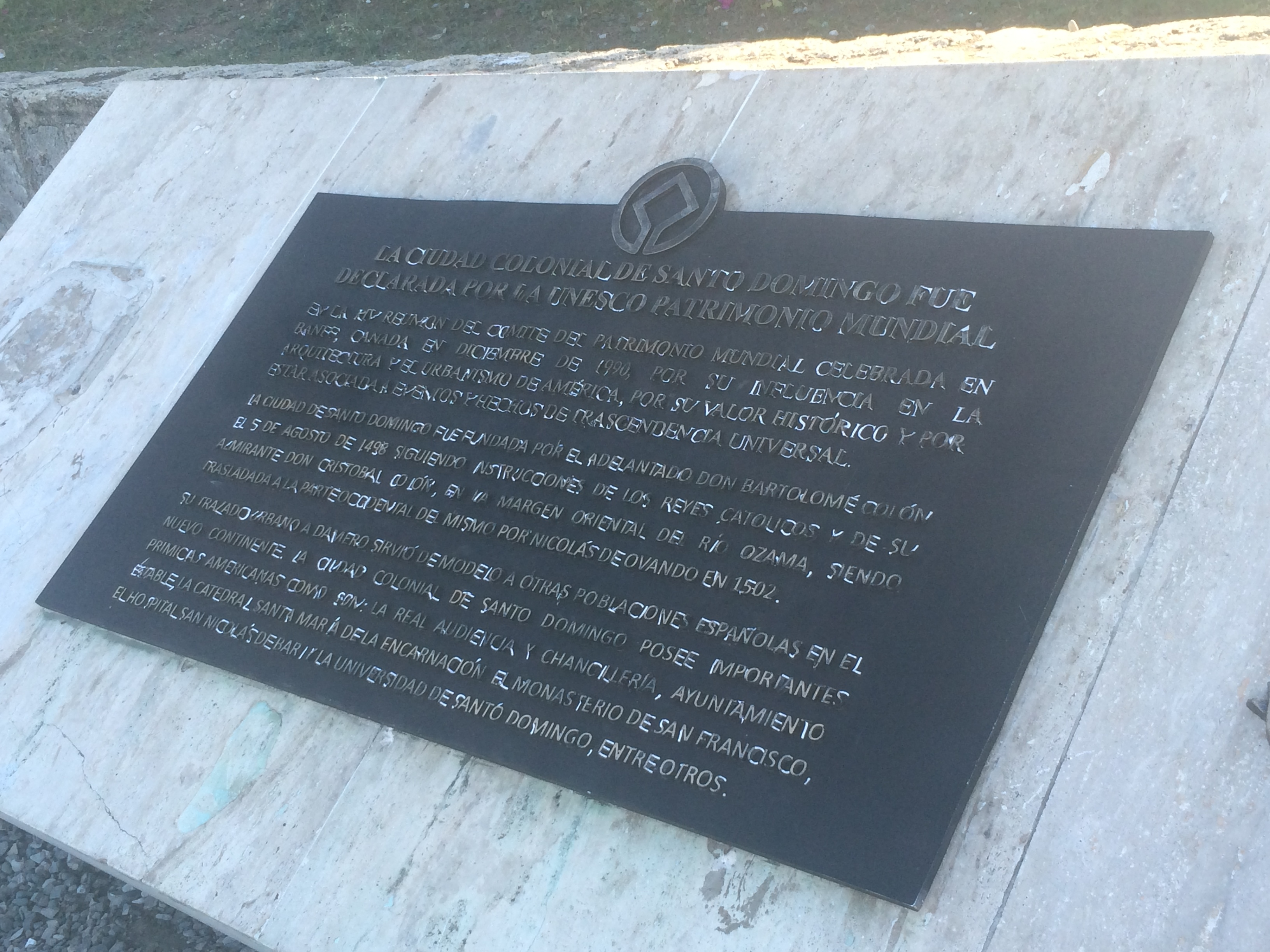 The Colonial City of Santo Domingo Marker